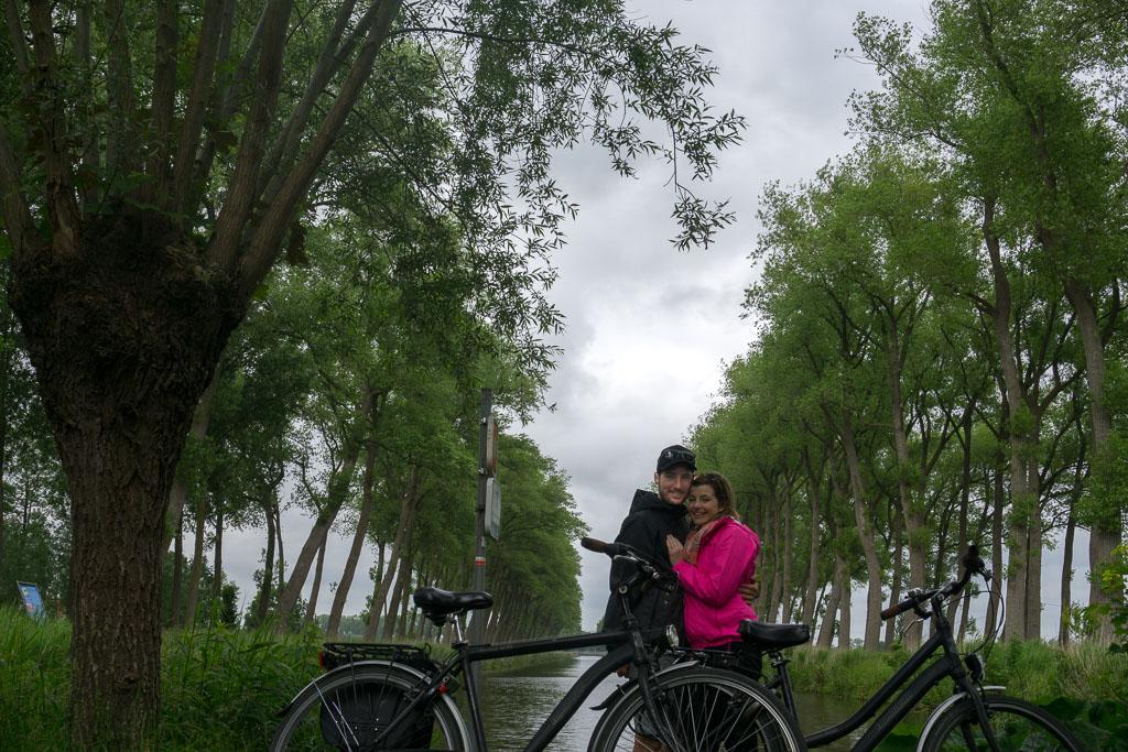The Two Drifters enjoying their bike ride in Belgium www.thetwodrifters.net