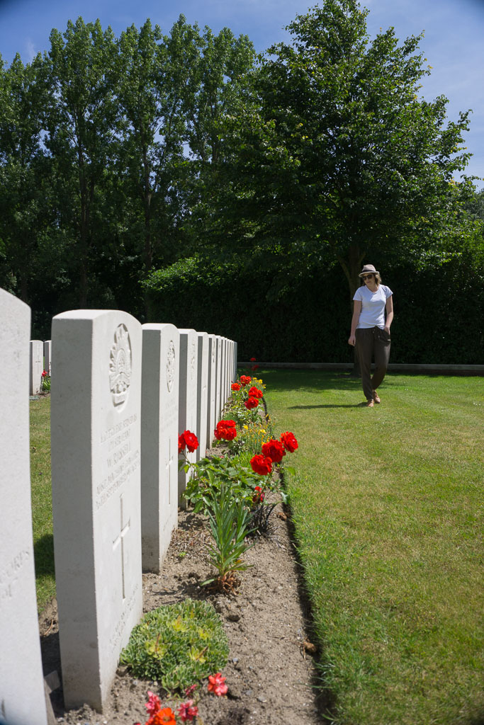 Reflecting in a WWI Cemetry www.thetwodrifters.net