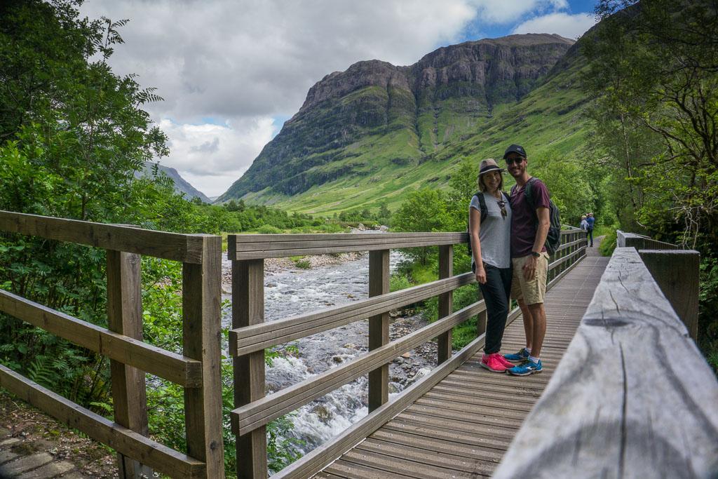 Glencoe The Two Drifters Bridge Waterfall Mountain www.thetwodrifters.net