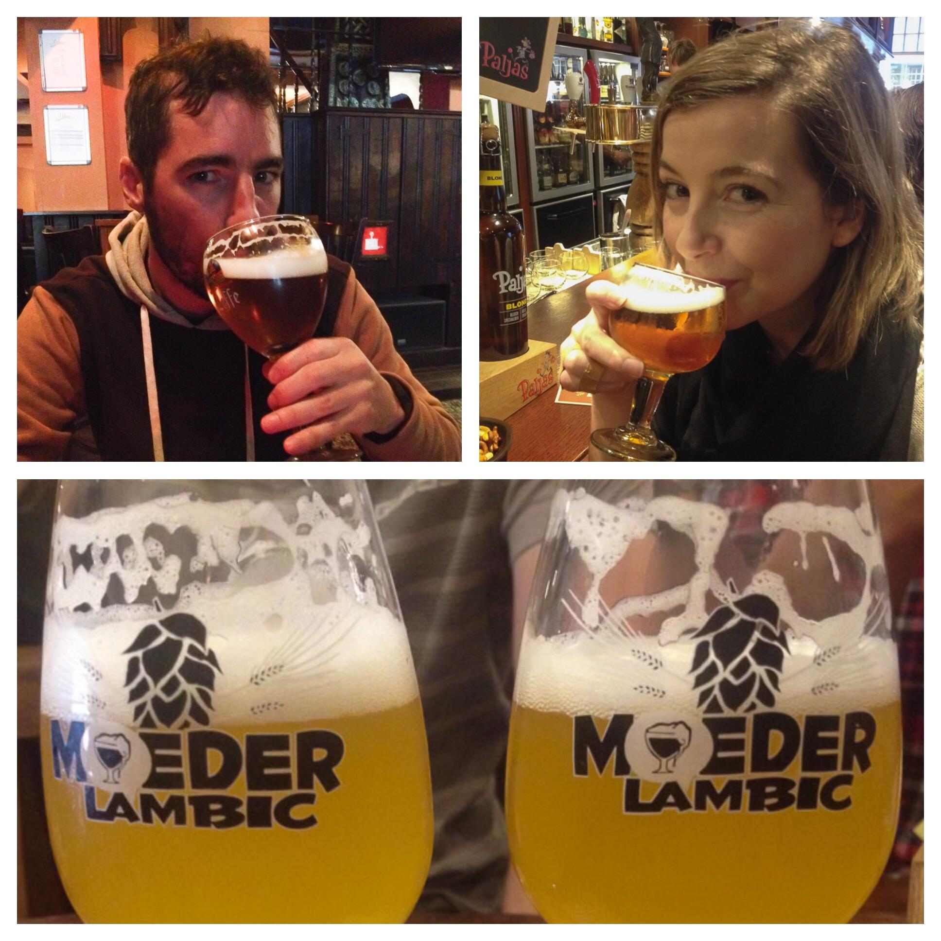 Enjoying the beer tour in Belgium www.thetwodrifters.net
