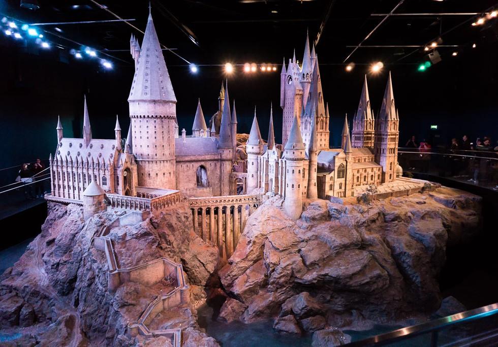 Harry Potter Studio Tour, The Two Drifters, www.thetwodrifters.net Hogwarts - model
