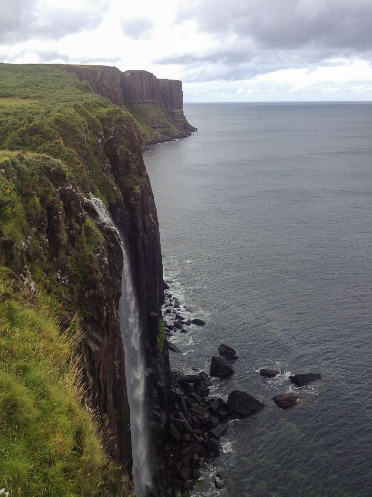 Isle of Skye The Two Drifters Kilt Rock with Lealt Falls
