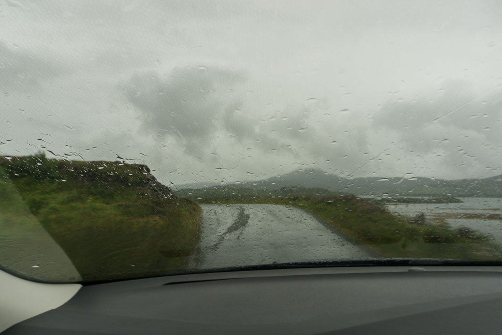 Isle of Skye The Two Drifters Driving through the Rain