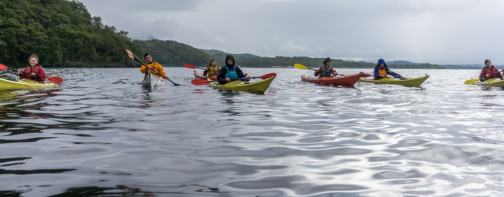 West Highland Way, The Two Drifters, www.thetwodrifters.net The adventurers kayaking Loch Lomond in Scotland