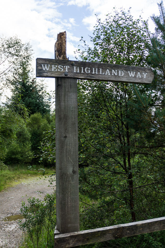 West Highland Way, The Two Drifters, www.thetwodrifters.net Follow the signs on the West Highland Way, Scotland