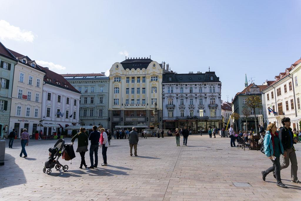Main square, Bratislava, The Two Drifters, www.thetwodrifters.net