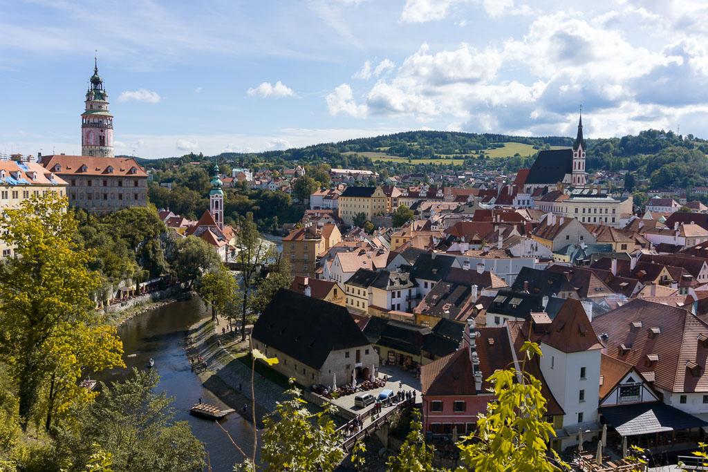 Rooftops of Český Krumlov, The Two Drifters, www.thetwodrifters.net