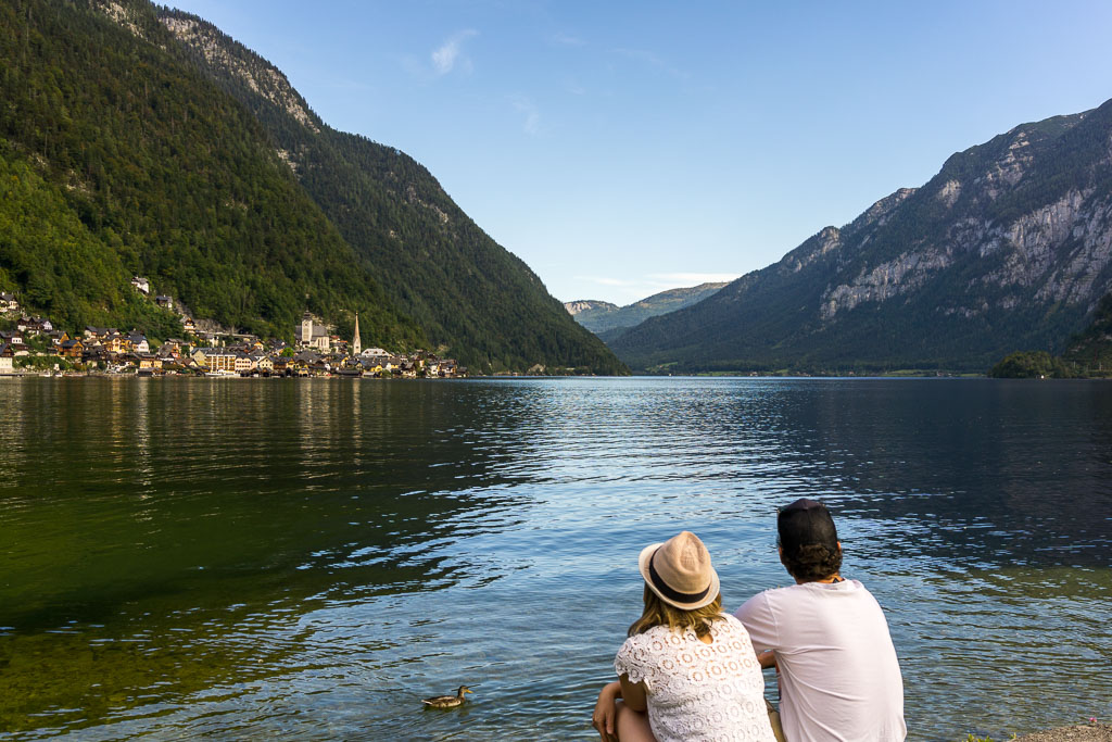 Admiring the view, Hallstatt, The Two Drifters, www.thetwodrifters.net
