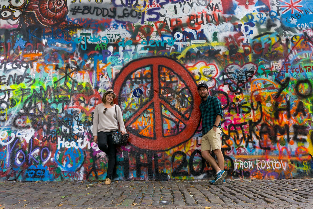 John Lennon Wall, Prague, The Two Drifters, www.thetwodrifters.net