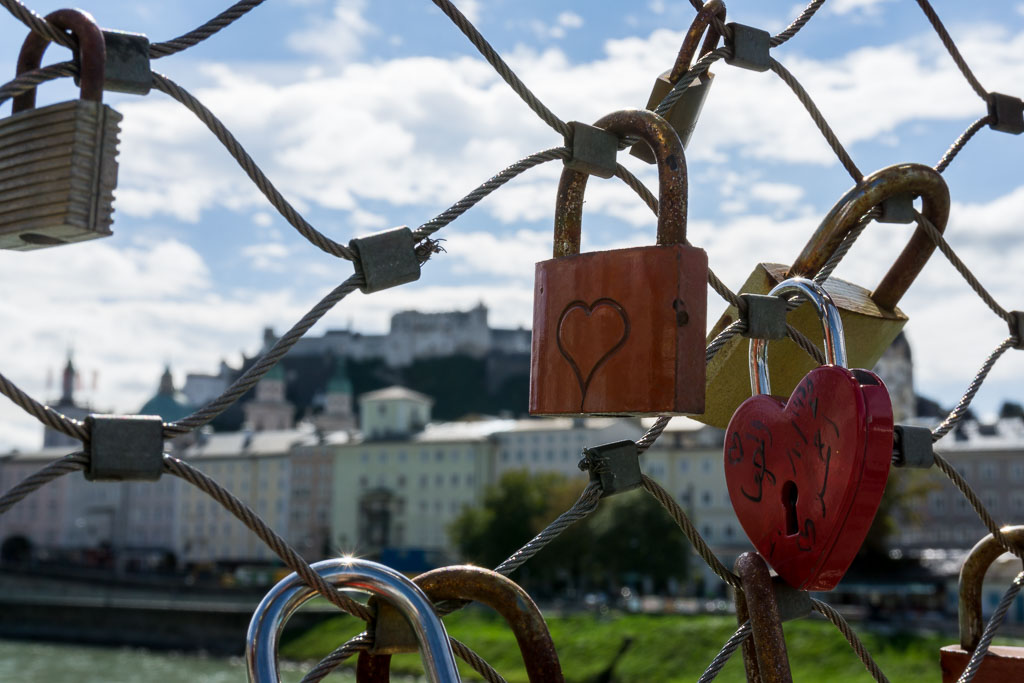 Love locks in Salzburg, The Two Drifters, www.thetwodrifters.net
