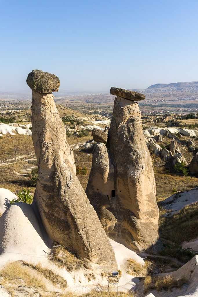 Three of the Fairy Chimneys, Cappadocia, The Two Drifters, www.thetwodrifters.net