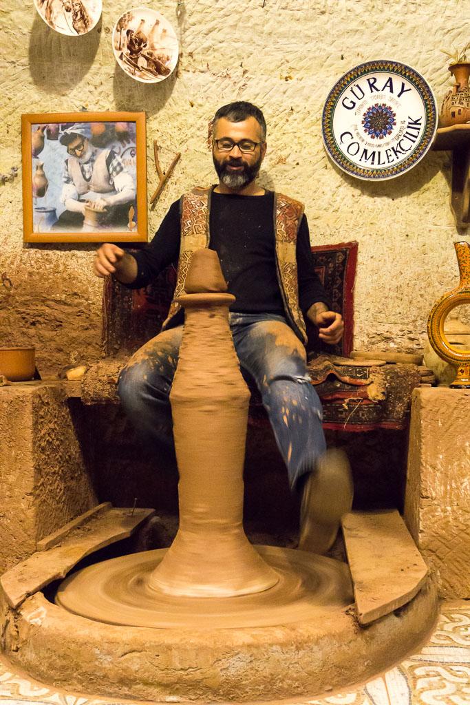 Making pottery, Cappadocia, The Two Drifters, www.thetwodrifters.net