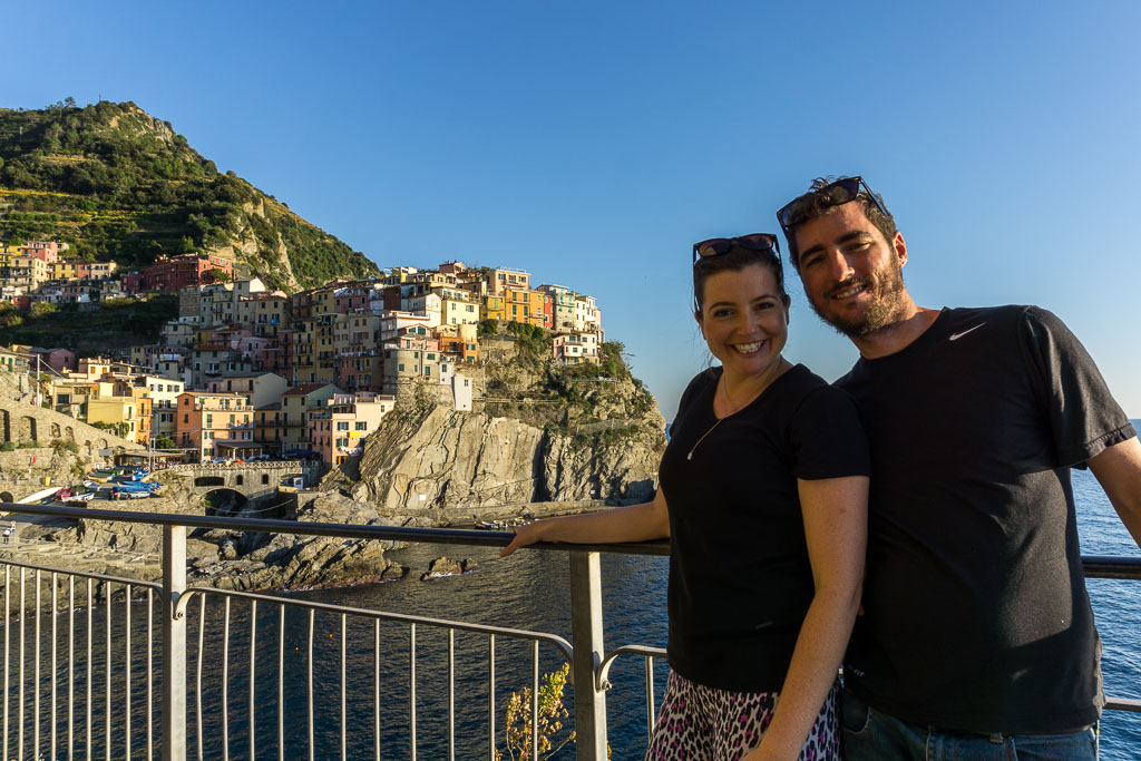 Us, Manarola, Cinque Terre, The Two Drifters, www.thetwodrifters.net
