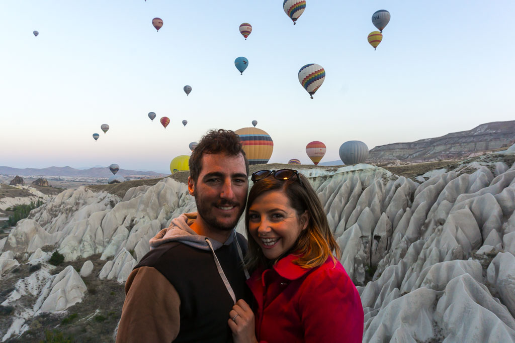Us, Hot Air Balloon Ride, Cappadocia, The Two Drifters, www.thetwodrifters.net