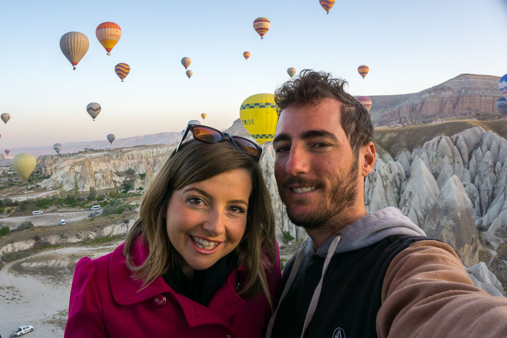 On our Hot Air Balloon Ride, Hot Air Balloon Ride, Cappadocia, The Two Drifters, www.thetwodrifters.net