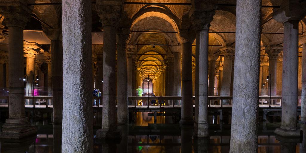 Basilica Cistern Walkway, Istanbul, The Two Drifters, www.thetwodrifters.net