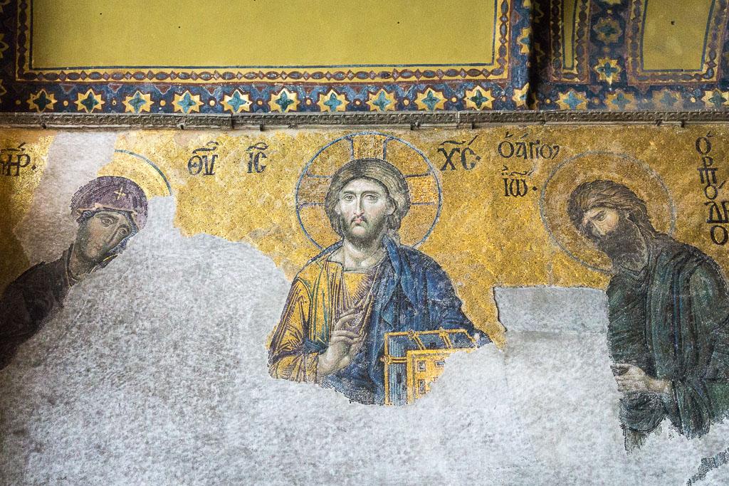Mosaic Panel, Hagia Sophia, Istanbul, The Two Drifters, www,.thetwodrifters.net