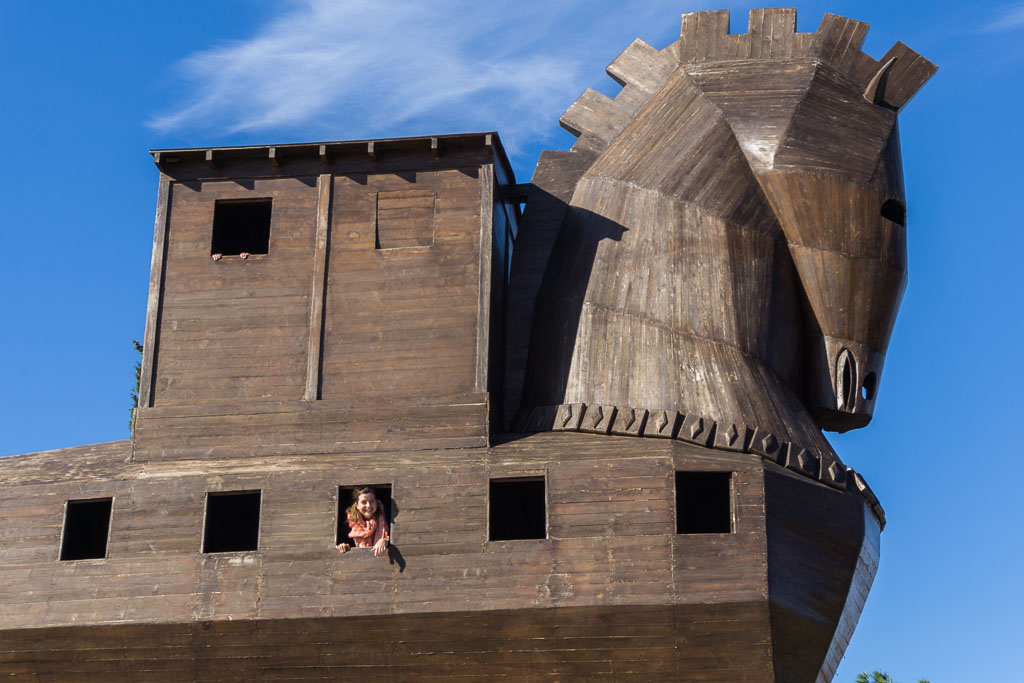 Eilis in the Trojan Horse, Troy, The Two Drifters, www.thetwodrifters.net