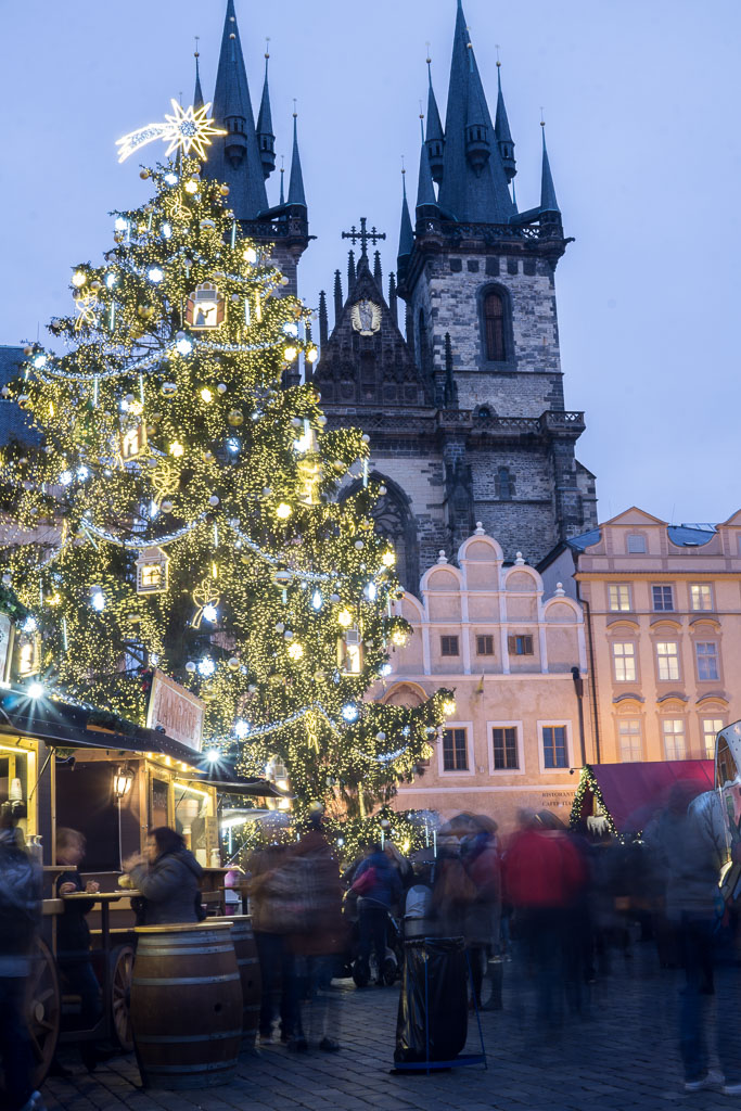Old Town Square, Prague at  Christmas, The Two Drifters, www.thetwodrifters.net