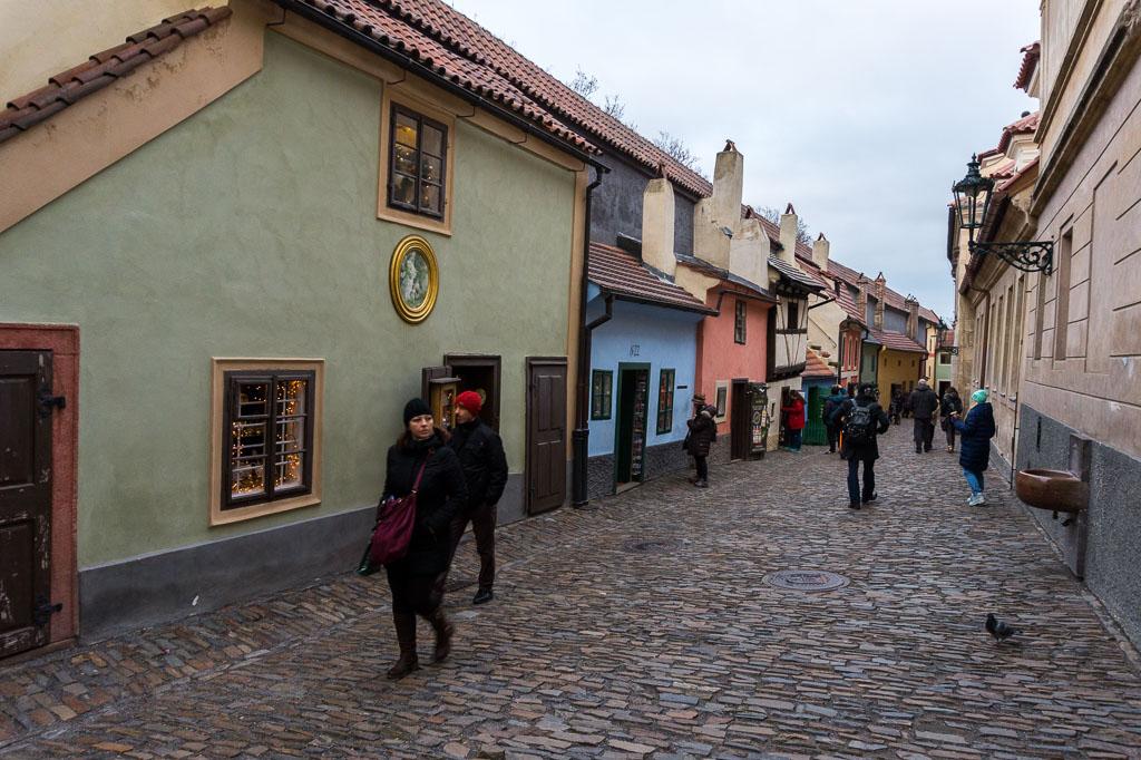 Golden Lane, Prague at  Christmas, The Two Drifters, www.thetwodrifters.net