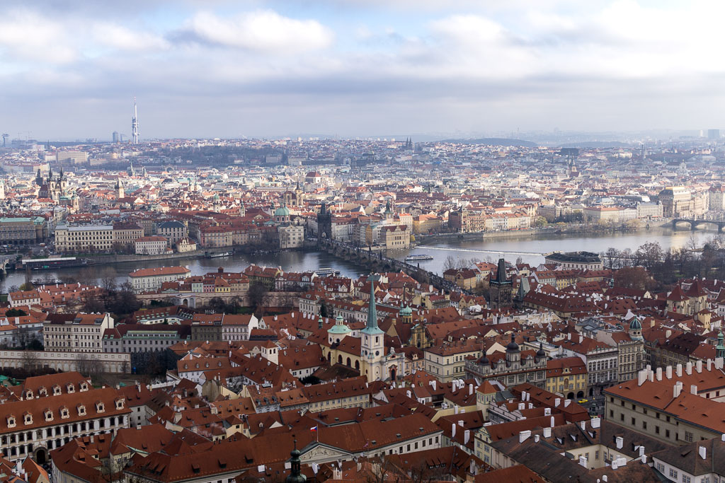 View, Prague at  Christmas, The Two Drifters, www.thetwodrifters.net