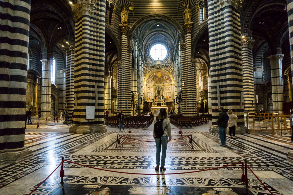 Inside Siena's Cathedral, Siena, The Two Drifters, www.thetwodrifters.net