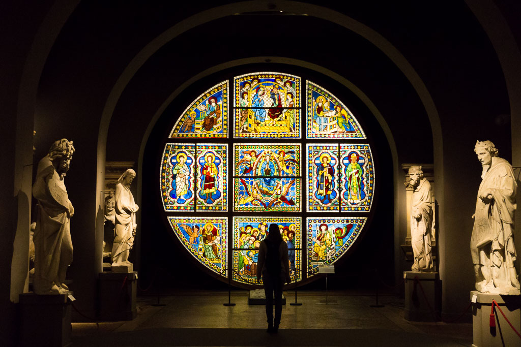 Stain glass window, Siena, The Two Drifters, www.thetwodrifters.net